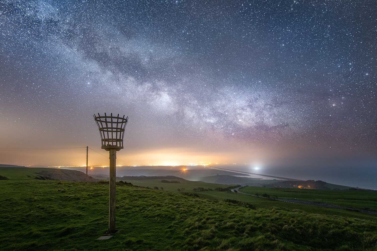 Abbotsbury Beacon By Night
