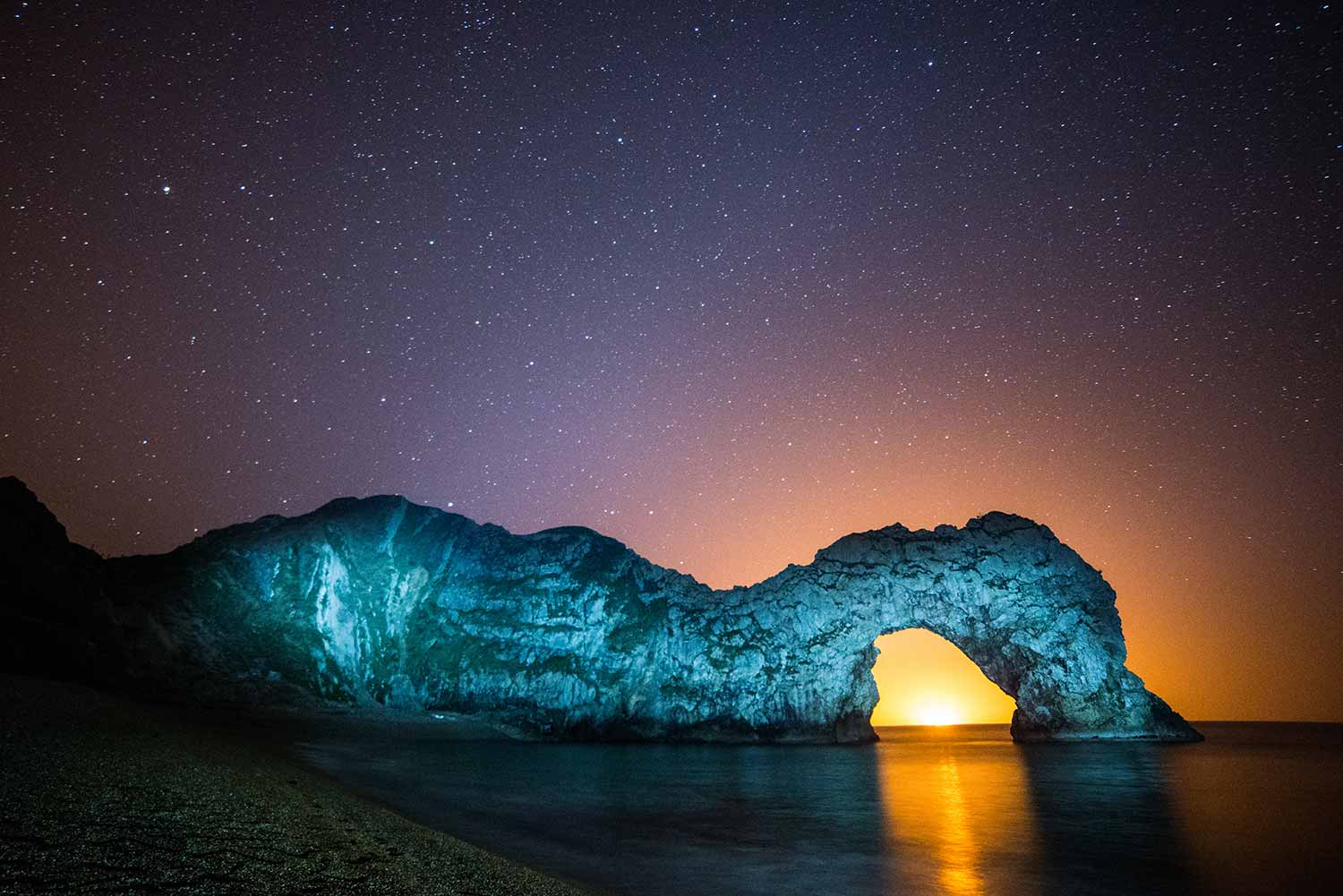 Backlit Durdle Door