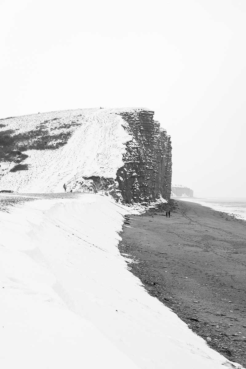 The Beast from the East (Cliff) - snow at West Bay