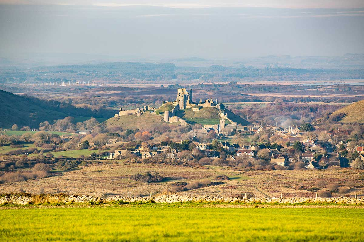 Corfe Castle from Afar