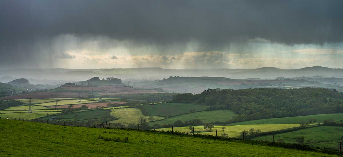 Downpour from Eggardon Hill