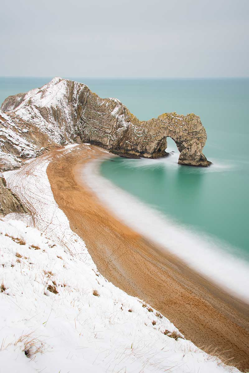 Durdle Door In The Snow (portrait)