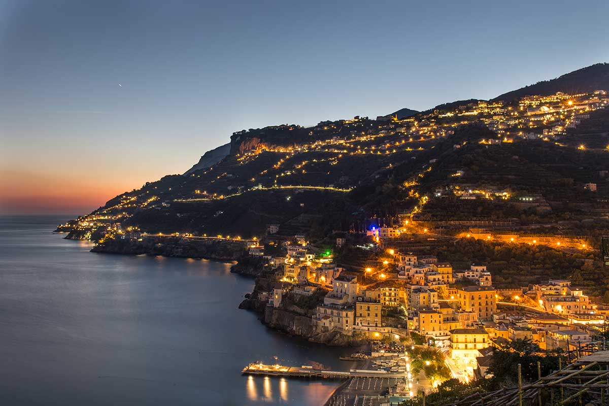 Dusk On The Amalfi Coast
