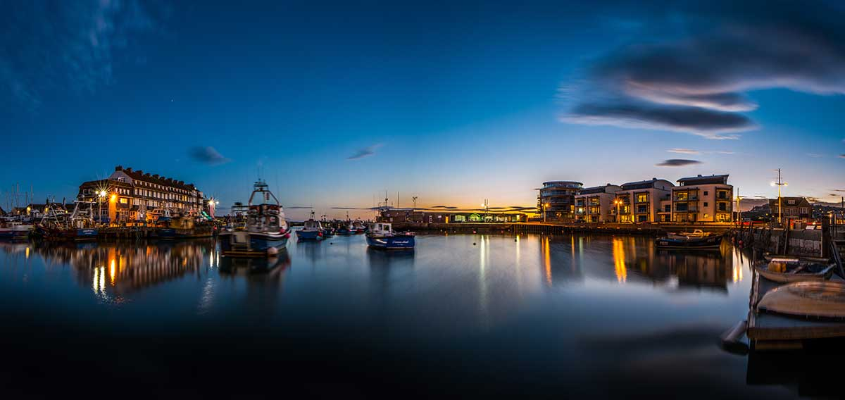 Dusk at West Bay - Dorset landscape photography by Stephen Banks