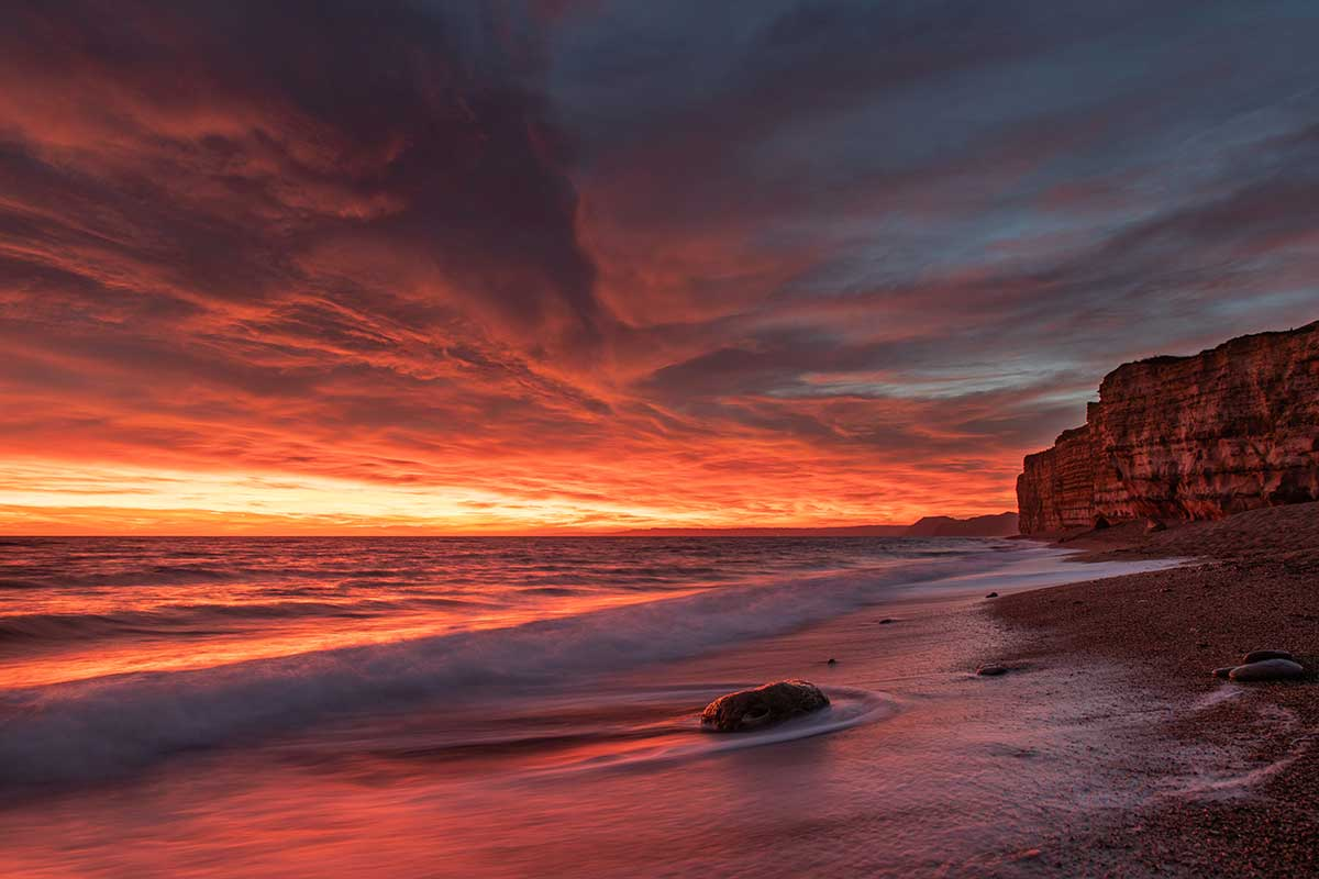 Fire In The Sky At Burton Bradstock
