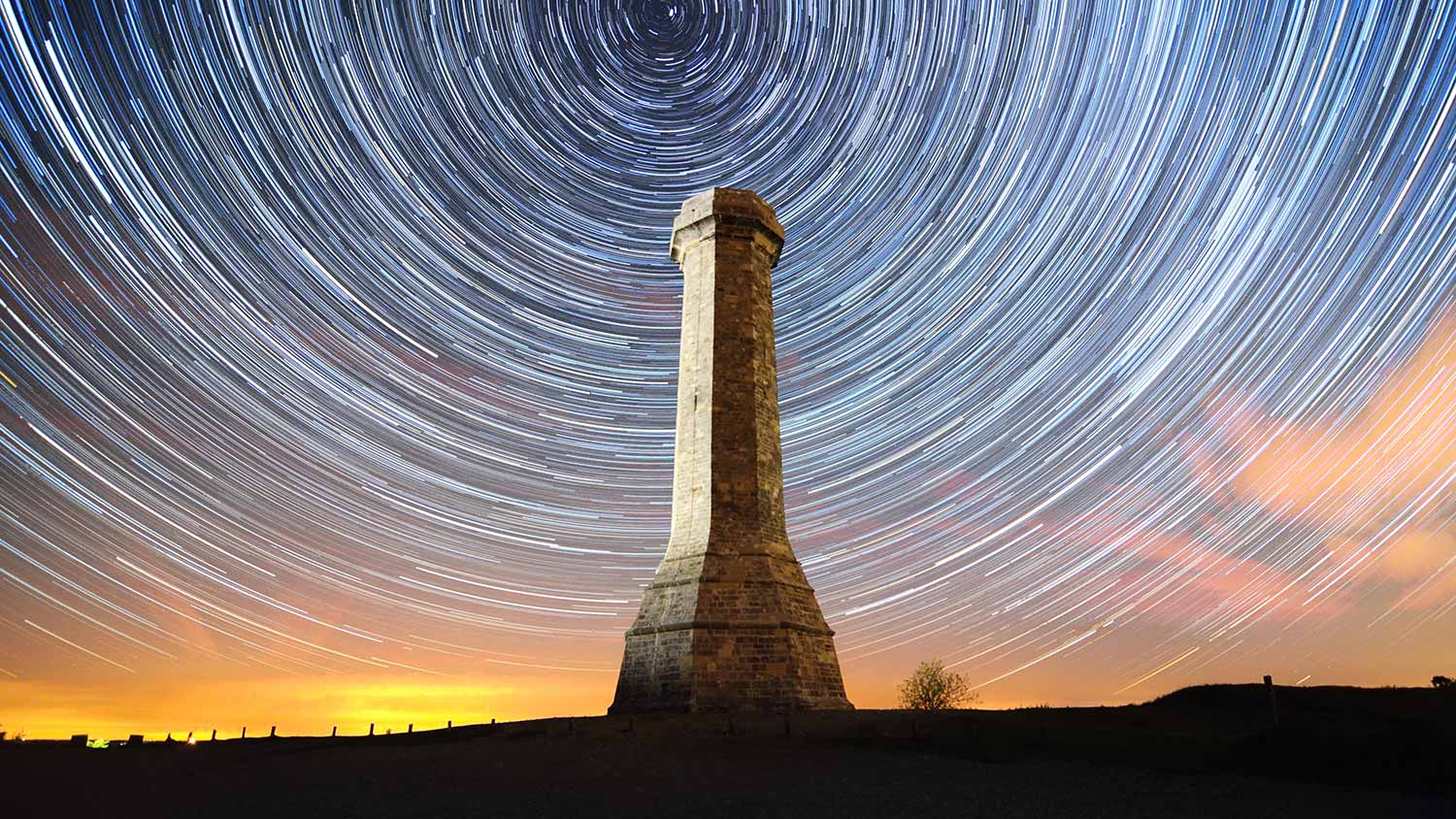 Hardy's Monument By Night