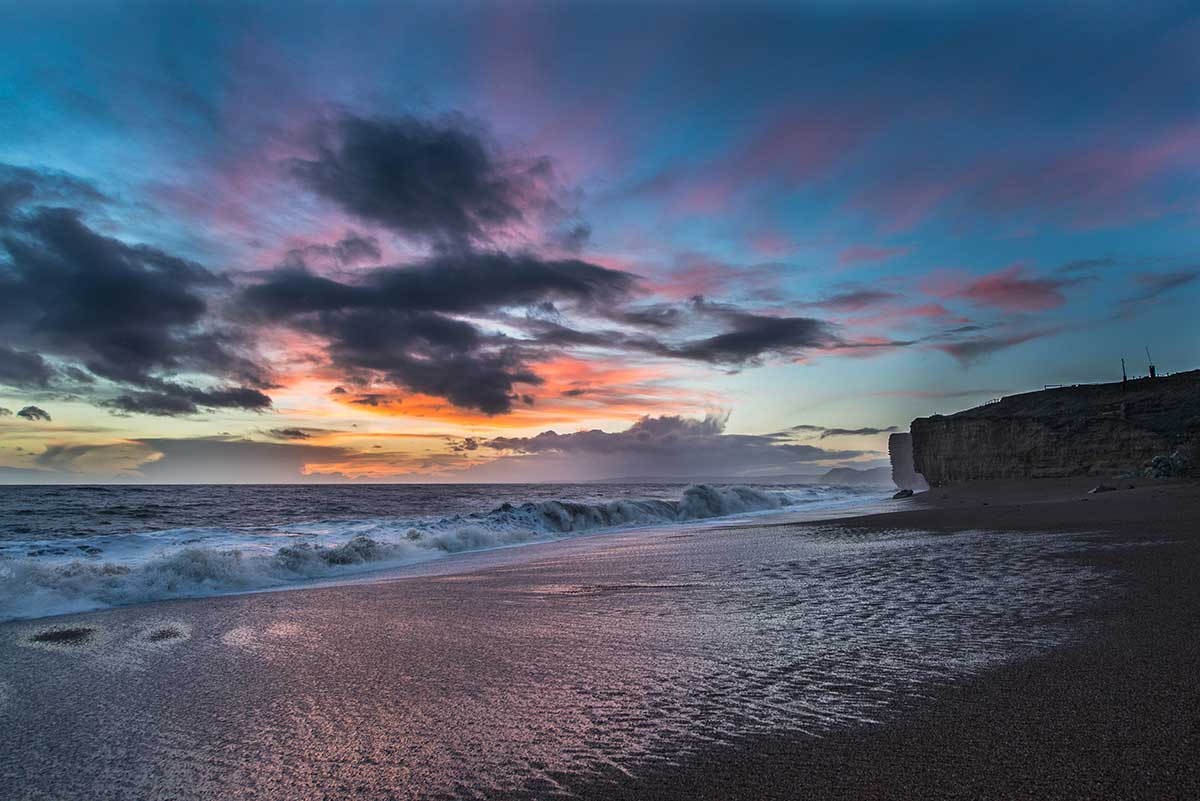Last Light At Burton Bradstock