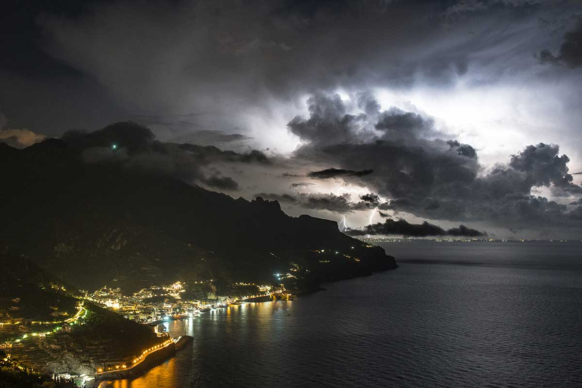 Lightning Above The Amalfi Coast