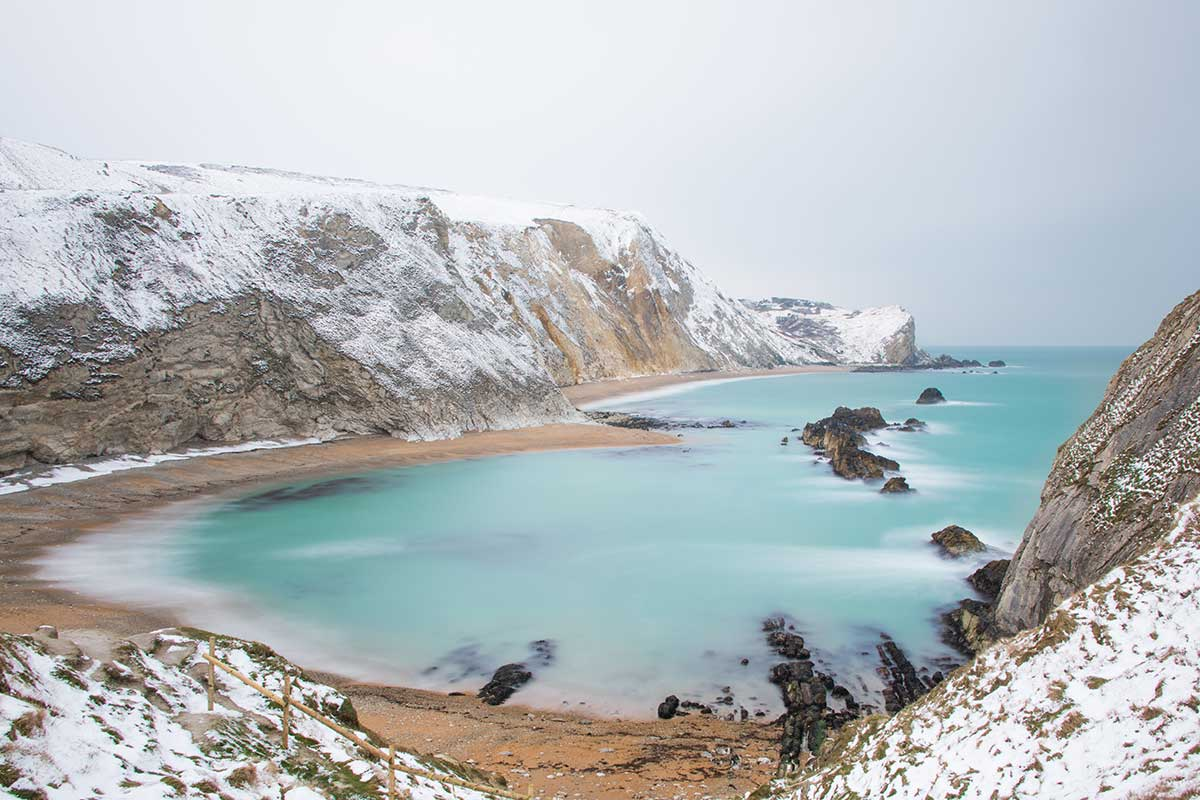 Man O War Bay In The Snow