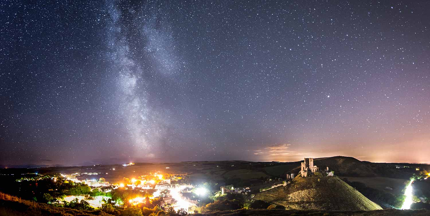 Milky Way Above Corfe Castle