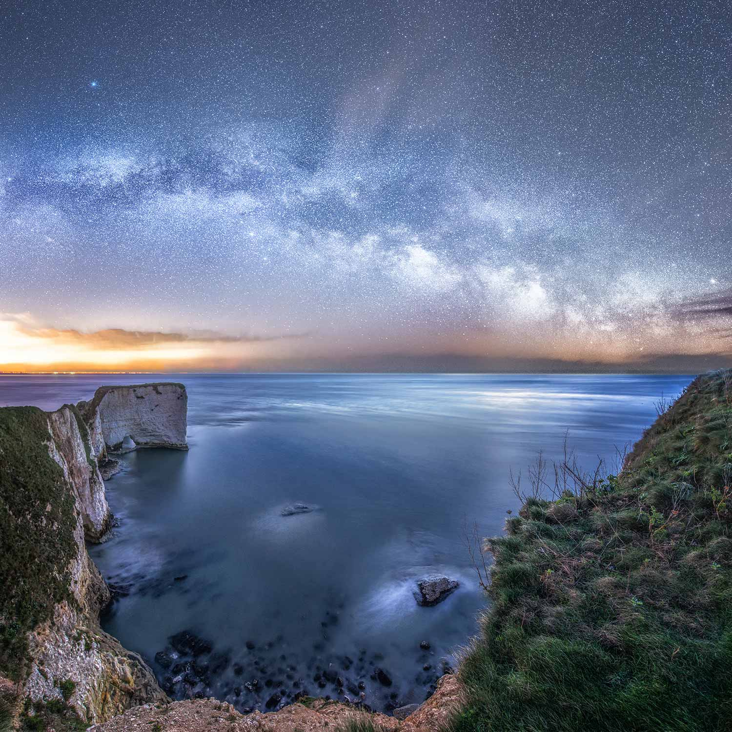 Milky Way Above Old Harry Rocks