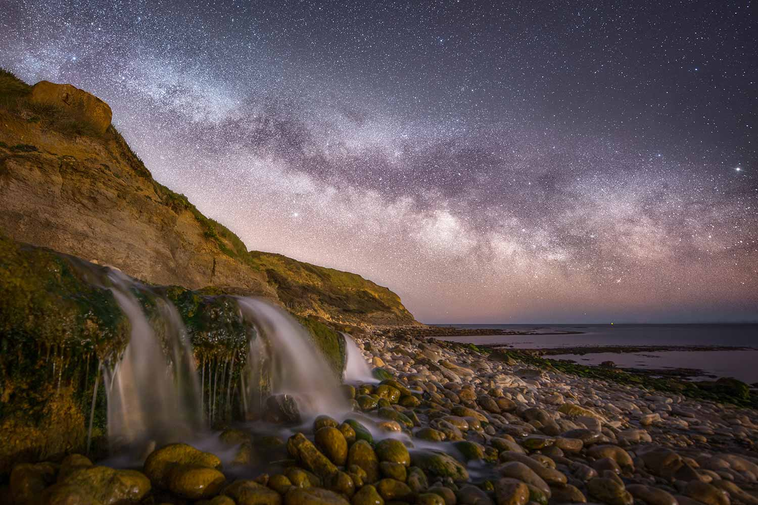Milky Way Above Osmington Mills Waterfall