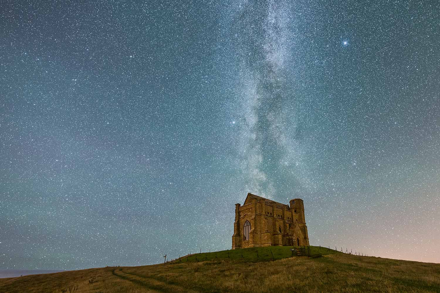 Milky Way Above St Catherine's Chapel