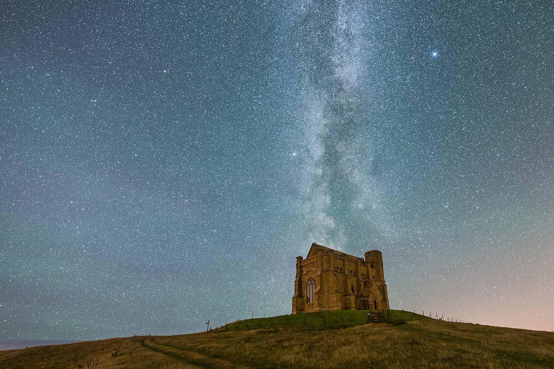 Milky Way Above St Catherine's Chapel