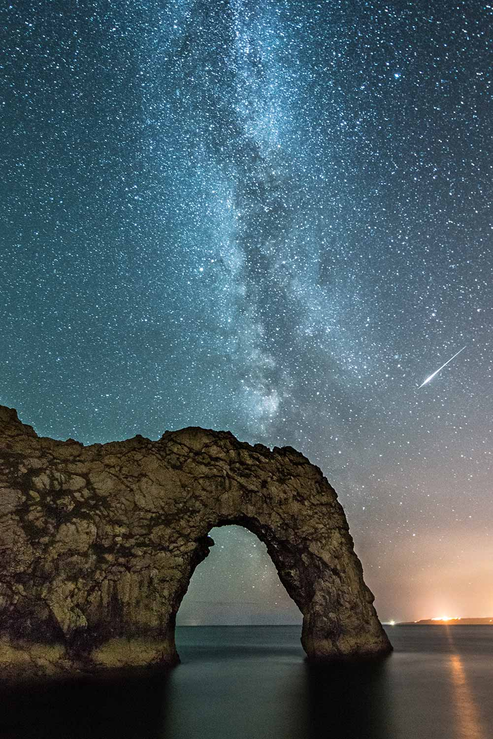 Milky Way And Meteor Above Durdle Door
