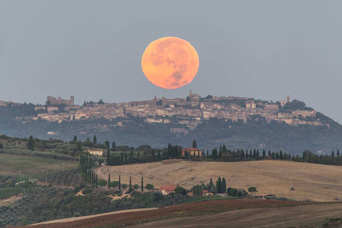 Moonrise Above San Quirico D'Orcia