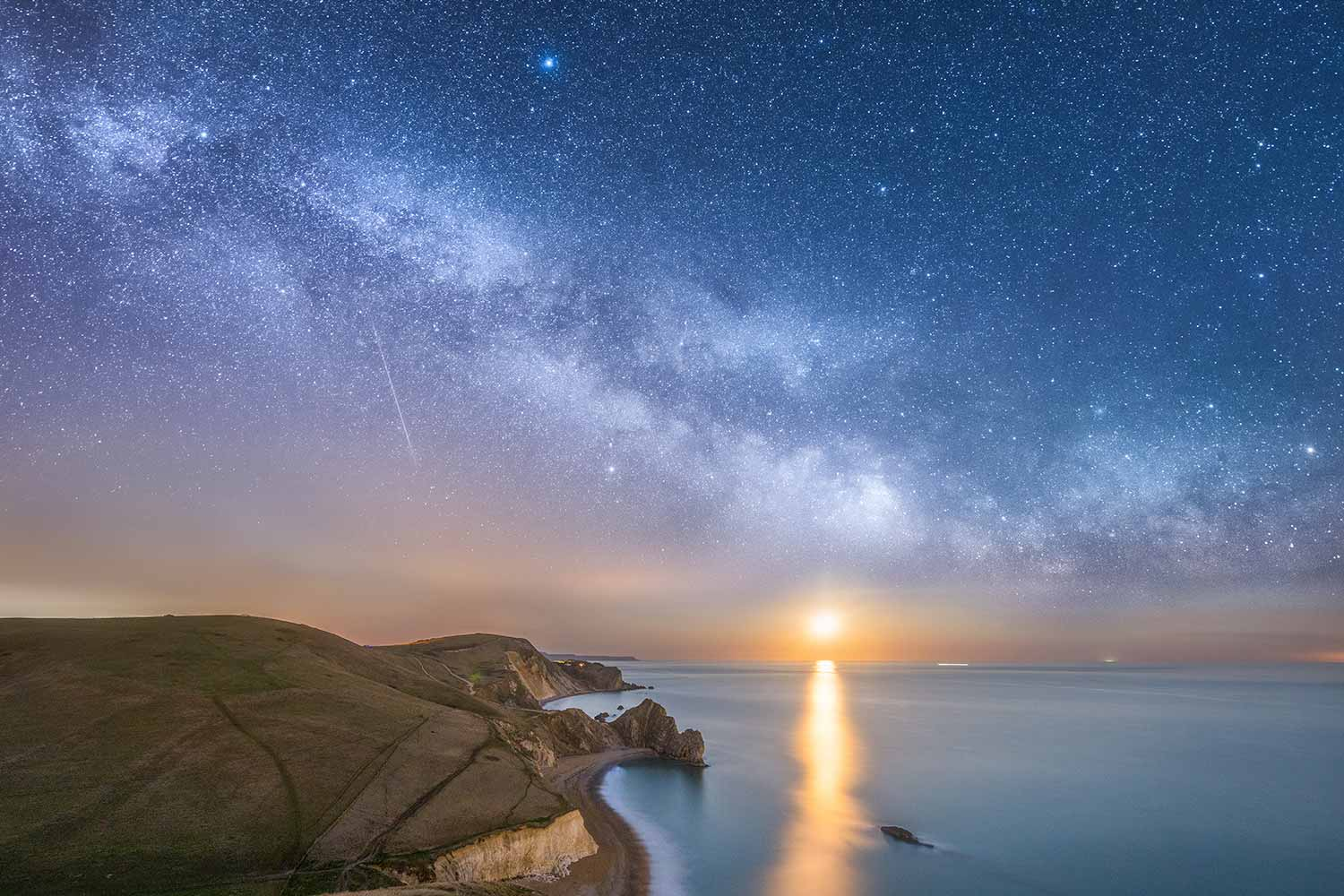 Moonrise Over Durdle Door