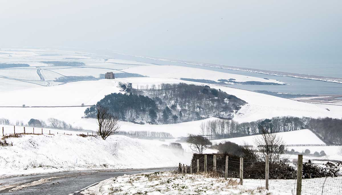Snow At Abbotsbury And The Fleet
