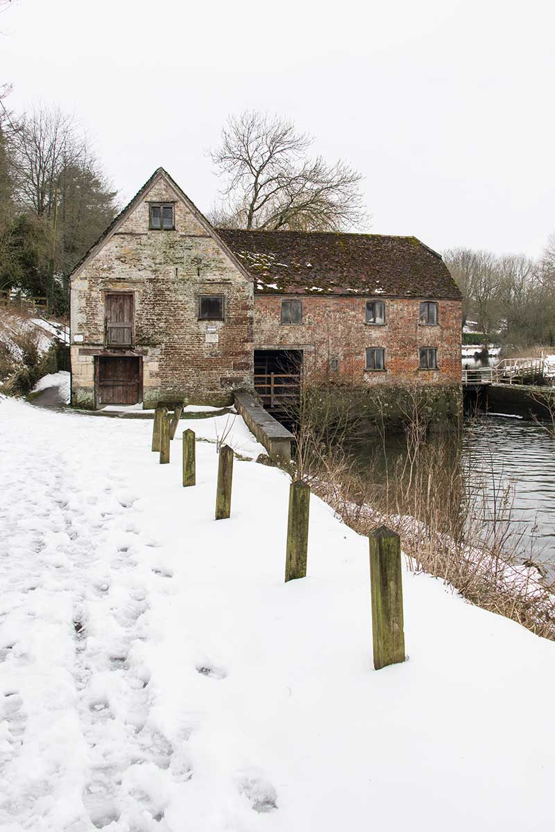 Snow At Sturminster Newton Mill