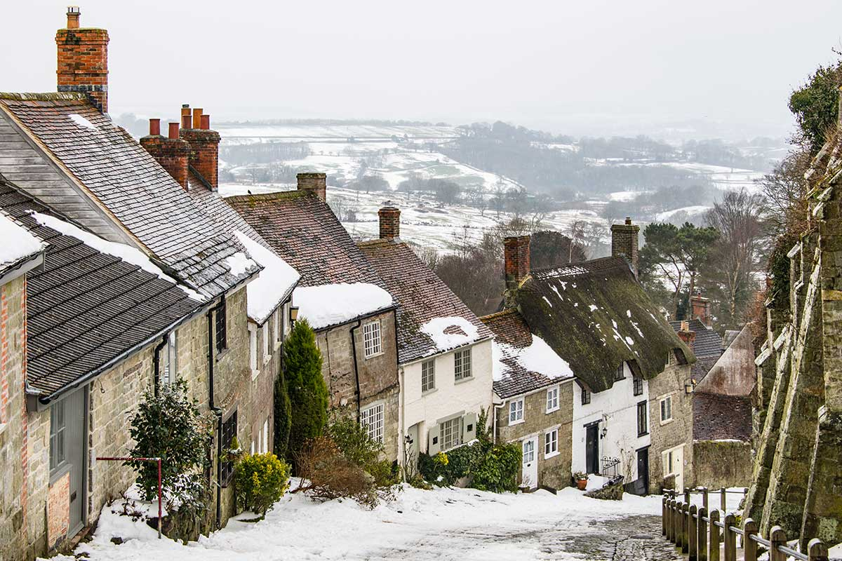 Snowy Gold Hill