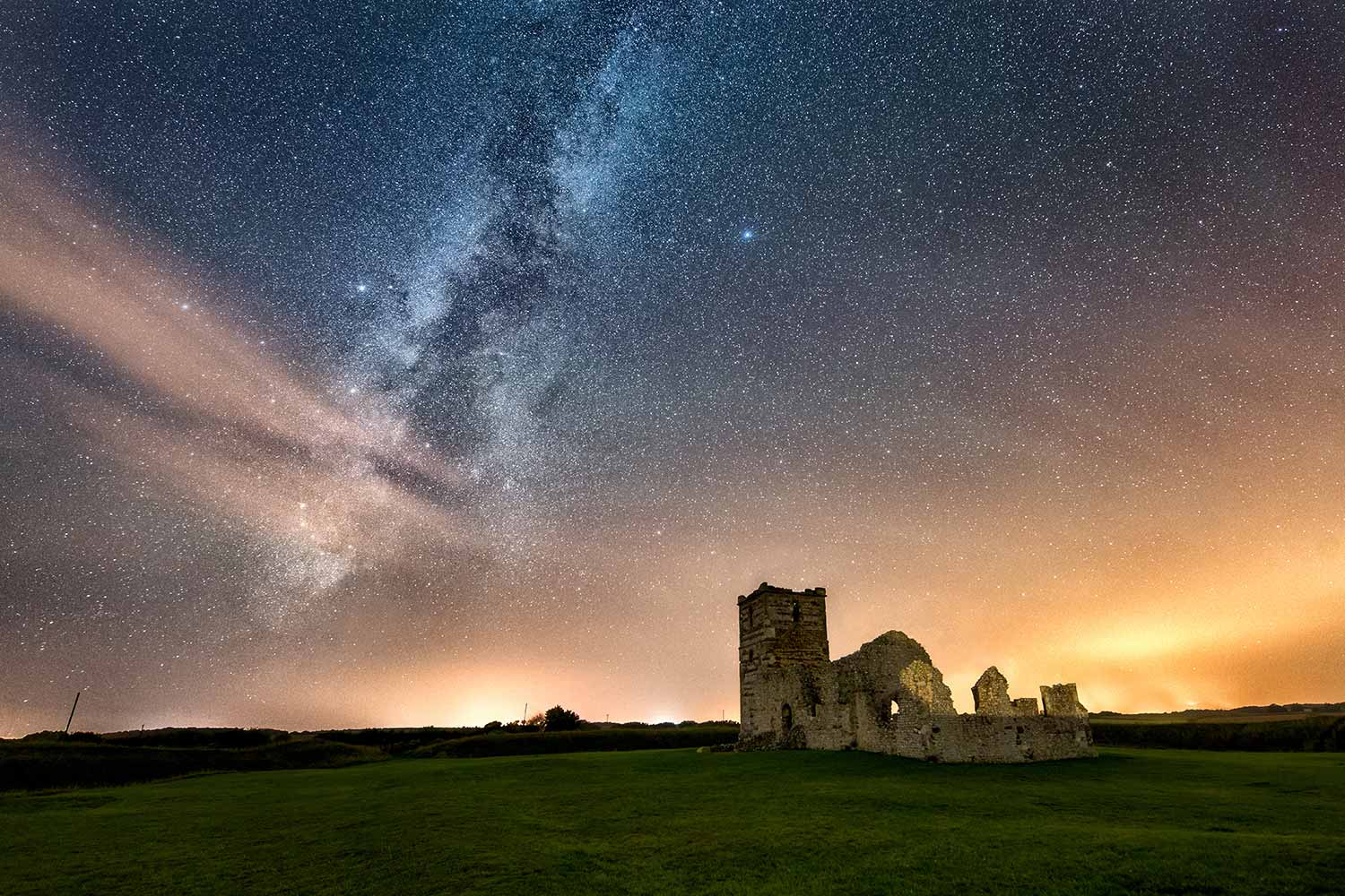 Starlit Knowlton Church