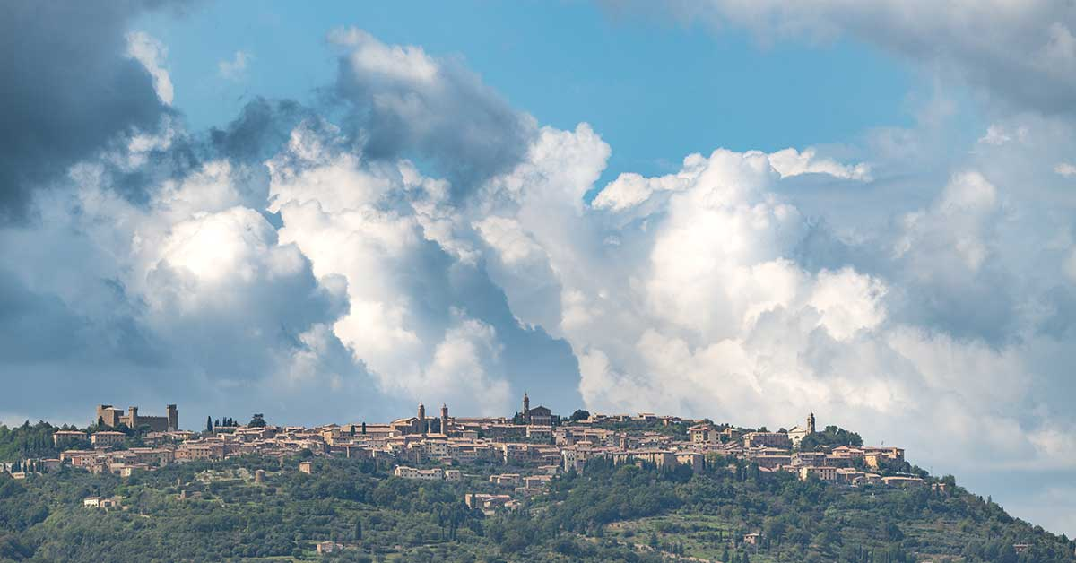 Storm Clouds Above San Quirico D'Orcia
