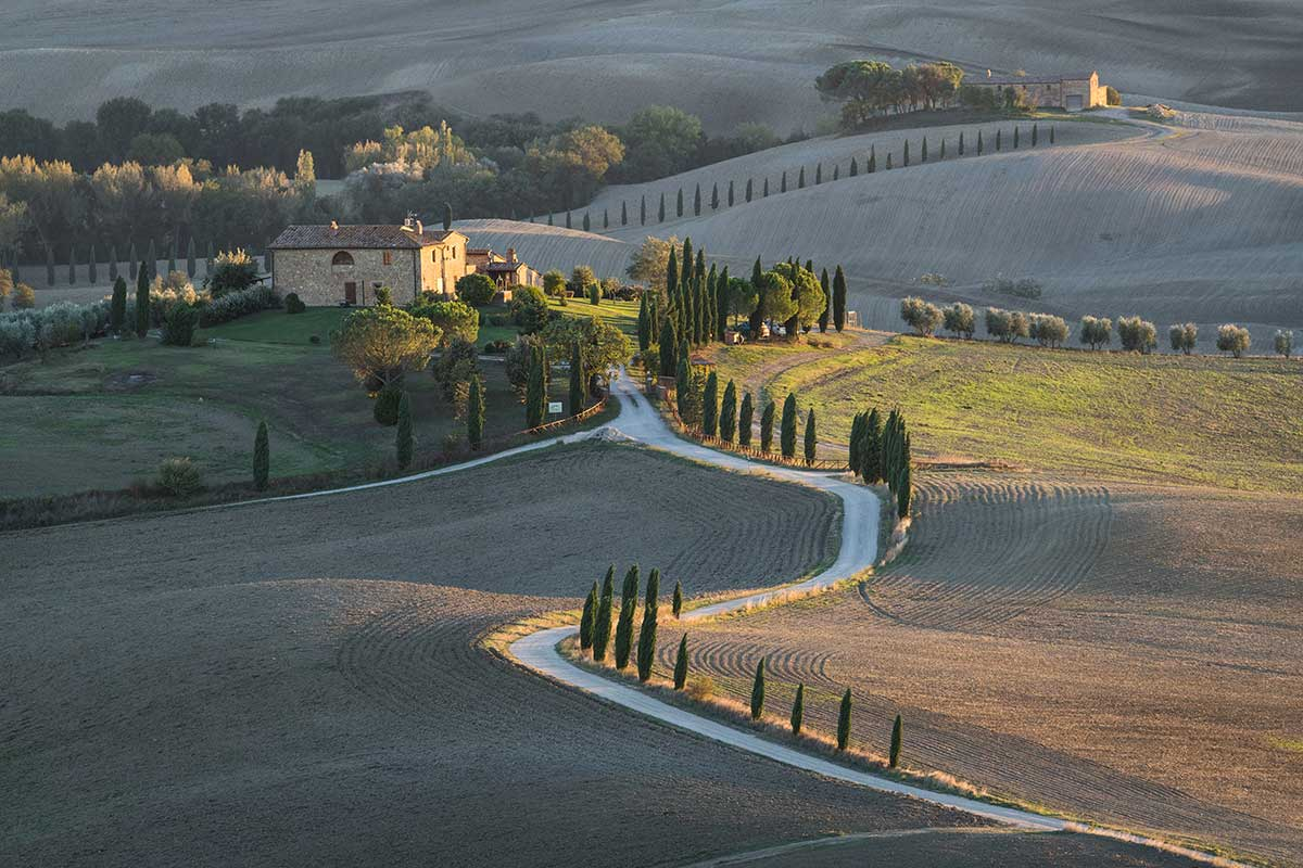 Tuscan Farmhouse Sunrise