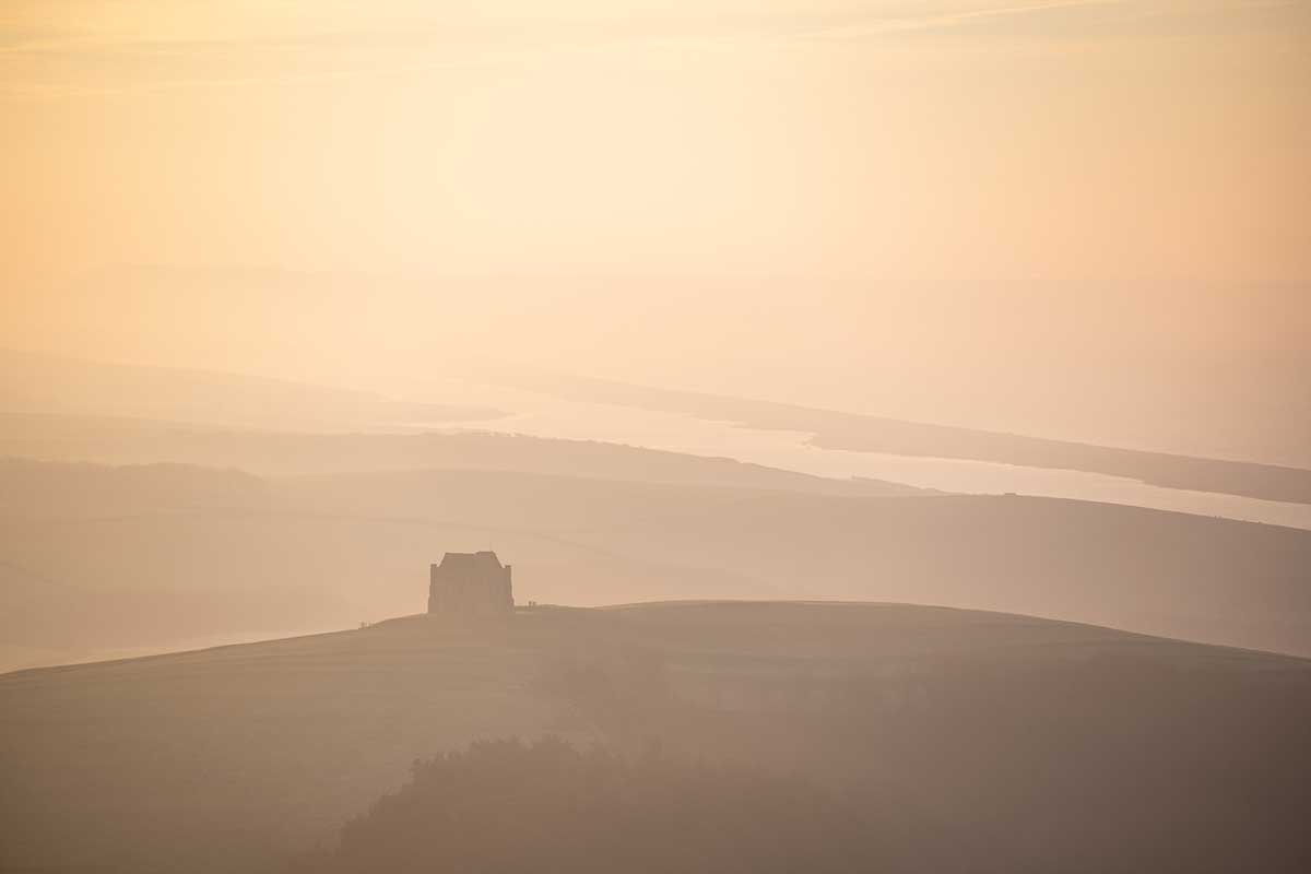 Winter Light Overlooking Abbotsbury - Dorset landscape photography by Stephen Banks