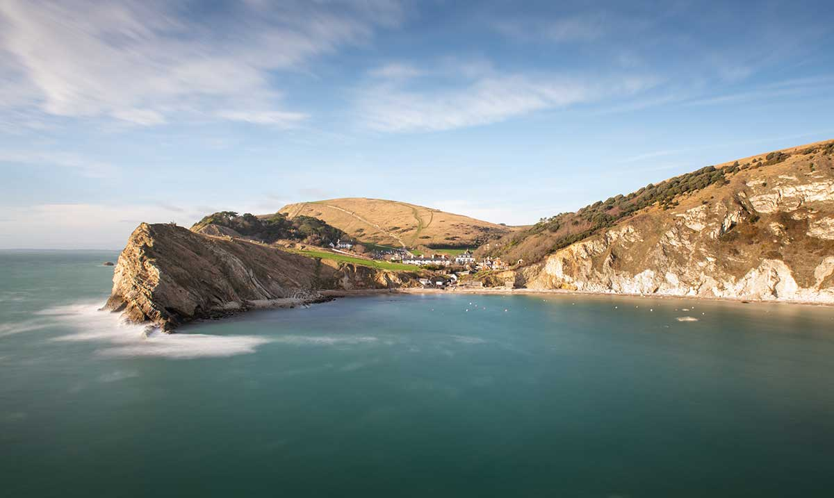 Winter's Light On Lulworth Cove