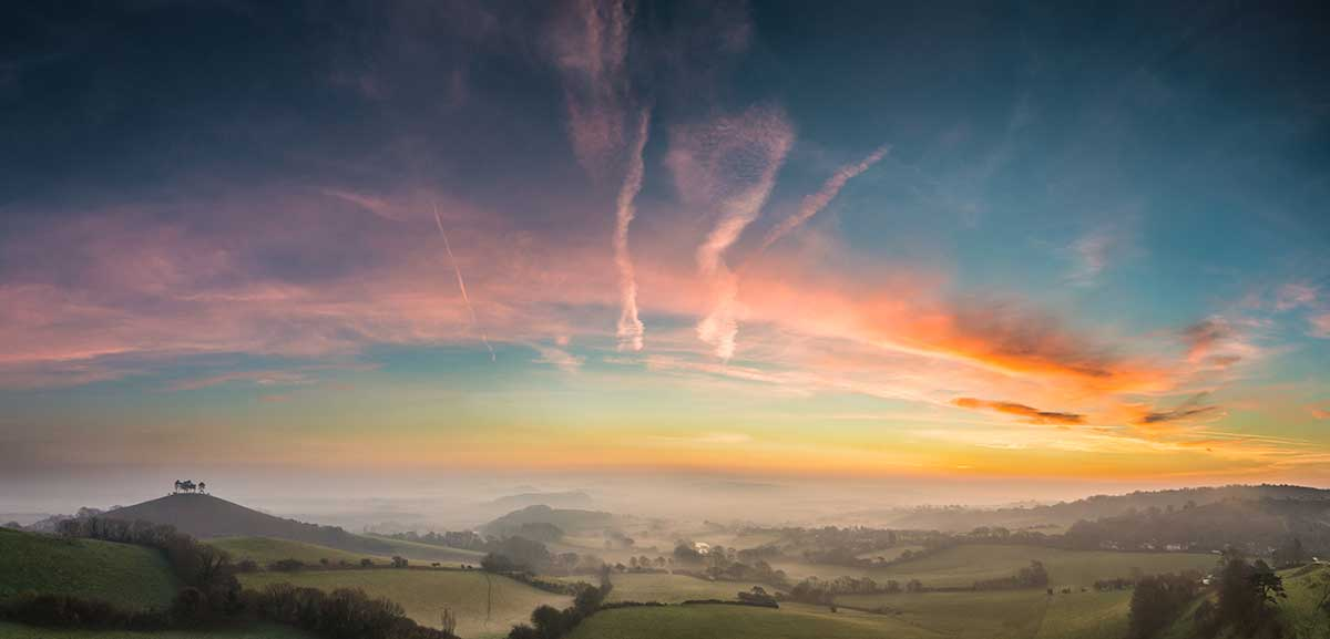 Winter's Sunrise At Colmer's Hill
